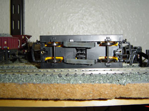 Bottom of Hornby Track Cleaning Coach R296