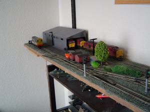 Model Railway Shelf Layout Close Up