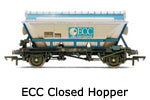 Hornby Model Railway Wagon Review ECC Closed China Clay Hopper R6106 and R6223