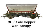 Hornby Model Railway Wagon Review MGR Coal Hopper with Canopy R6224