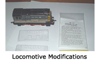 Model Railway Locomotive Modifications - Steam, Electric, Diesel, DMU, EMU