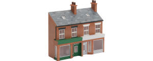 Hornby Skaledale Buildings - Low Relief Terraced Shops A - R9656