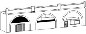 Hornby Skaledale Buildings - Low Relief 3 Arch Viaduct - R9660