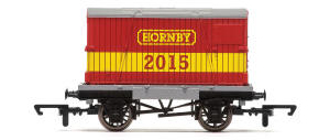 Hornby 2015 Conflat & Container Wagon - R6574