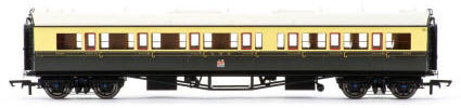 Hornby GWR Collett Coach Corridor Composite LH - 1930s Brown and Cream  - R4682