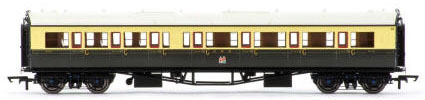 Hornby GWR Collett Coach Corridor Composite RH - 1930s Brown and Cream  - R4683