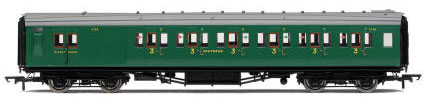 Hornby SR Maunsell 6 Compartment Third Class Brake Coach - R4737