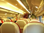 Pendolino Standard class interior of coach