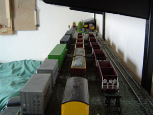 Model Railway Shelf Close Up