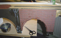 How to build a Model Railway Viaduct Bridge - brick pattern with the arch cut out