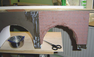 How to build a Model Railway Viaduct Bridge - brick pattern